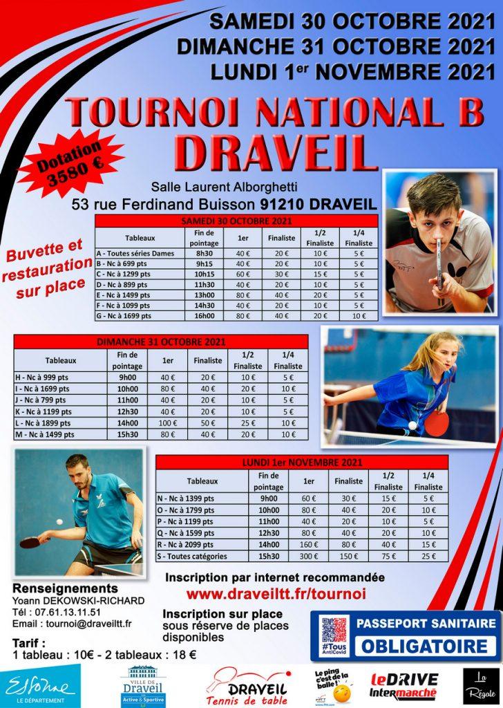 Tournoi Draveil Tennis de Table 2021